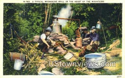 A Typical Moonshine Still  - Misc, Tennessee TN Postcard