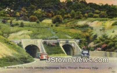Bachman Twin Tunnels  - Chattanooga, Tennessee TN Postcard