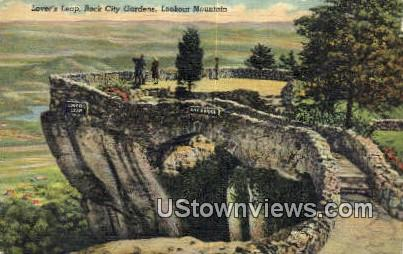 Lovers Leap Rock City Gardens  - Lookout Mountain, Tennessee TN Postcard