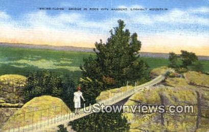 Swing Along Bridge Rock City Gardens  - Lookout Mountain, Tennessee TN Postcard
