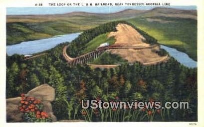 Loop On The L and N  - Misc, Tennessee TN Postcard