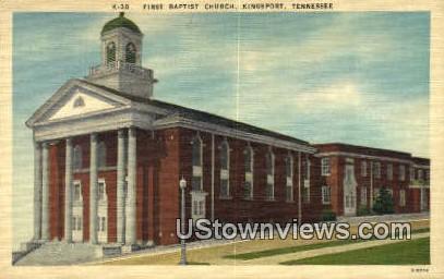 First Baptist Church  - Kingsport, Tennessee TN Postcard