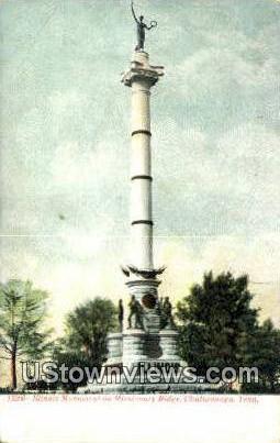 Illinois Monument On Missionary Ridge  - Chattanooga, Tennessee TN Postcard