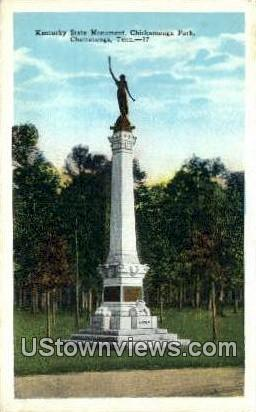 Kentucky State Monument Chickamauga Park  - Chattanooga, Tennessee TN Postcard