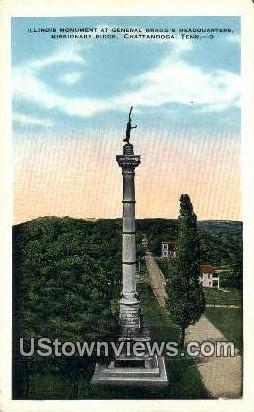 Illinois Monument - Chattanooga, Tennessee TN Postcard