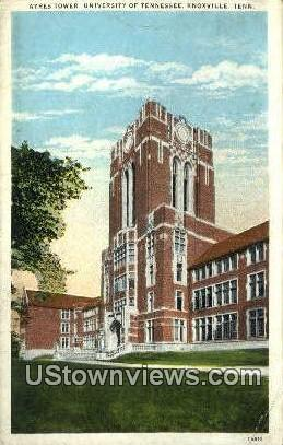 Ayres Tower University Of Tennessee  - Knoxville Postcard