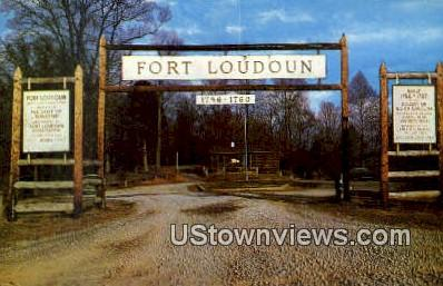 Fort Loudoun - Knoxville, Tennessee TN Postcard