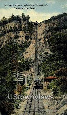 Incline Railway Lookout Mountain  - Chattanooga, Tennessee TN Postcard