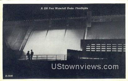 200 Foot Waterfall - Clinch River, Tennessee TN Postcard