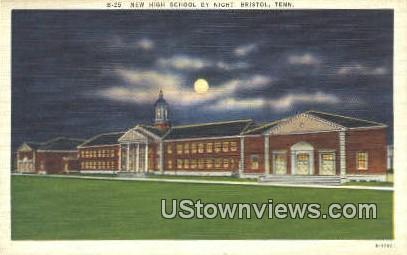New High School - Bristol, Tennessee TN Postcard