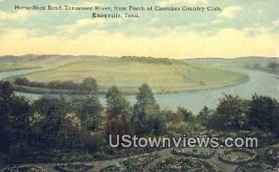 Horse Shoe Bend - Knoxville, Tennessee TN Postcard
