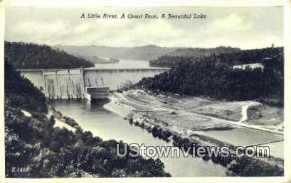 Little River, Great Dam - Clinch River, Tennessee TN Postcard