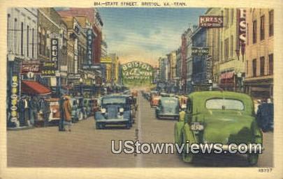 State Street - Bristol, Tennessee TN Postcard