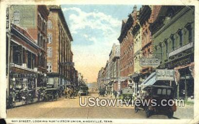 Gay Street - Knoxville, Tennessee TN Postcard