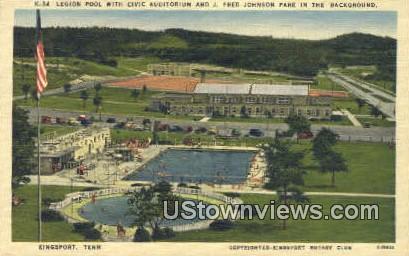 J. Fred Park - Kingsport, Tennessee TN Postcard