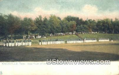 Dress Parade, University of Tennessee - Knoxville Postcard