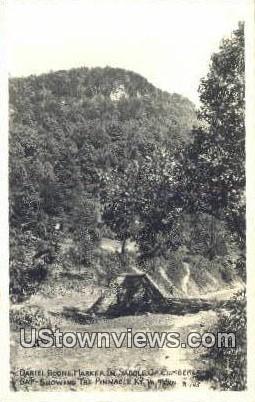 Real Photo - Daniel Boone Marker - Cumberland Gap, Tennessee TN Postcard