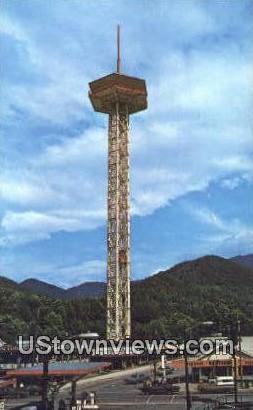 Space Needle - Gatlinburg, Tennessee TN Postcard
