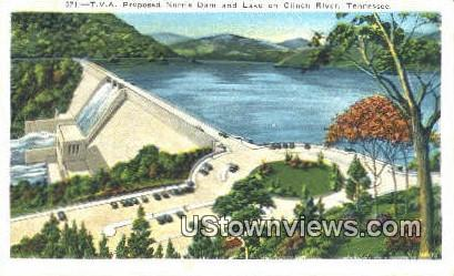 Norris Dam - Clinch River, Tennessee TN Postcard