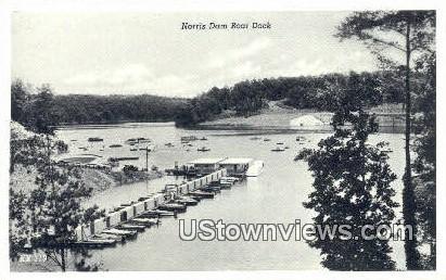 Norris Dam Boat Dock - Tennessee TN Postcard