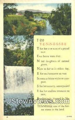 Misc, TN,, Misc, Tenn, Tennessee Postcard