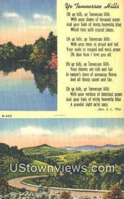 Misc, Tenn,, Misc, Tennessee, TN Postcard