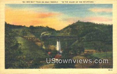 Railway Train - Misc, Tennessee TN Postcard
