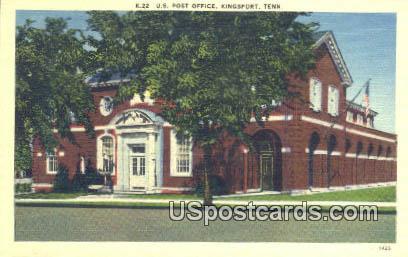 US Post Office - Kingsport, Tennessee TN Postcard