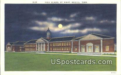 High School - Bristol, Tennessee TN Postcard