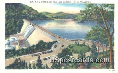 TVA Norris Dam & Lake - Clinch River, Tennessee TN Postcard