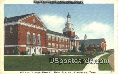 Dobyns Bennett High School - Kingsport, Tennessee TN Postcard