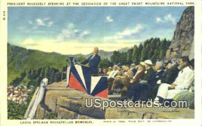 Laura Spelman Rockefeller Memorial - Great Smoky Mountains National Park, Tennessee TN Postcard