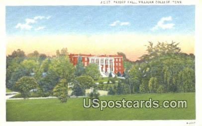 Pardee Hall - Milligan College, Tennessee TN Postcard
