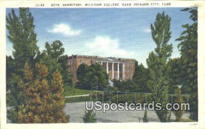 Boys' Dormitory, Milligan College - Johnson City, Tennessee TN Postcard