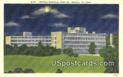 Bristol Memorial Hospital - Tennessee TN Postcard