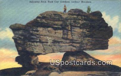 Balanced Rock - Rock City Gardens, Tennessee TN Postcard