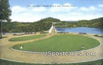 Roadway, Norris Dam - Tennessee TN Postcard