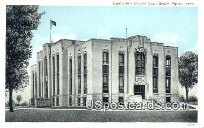 Lauderdale County Court House - Ripley, Tennessee TN Postcard