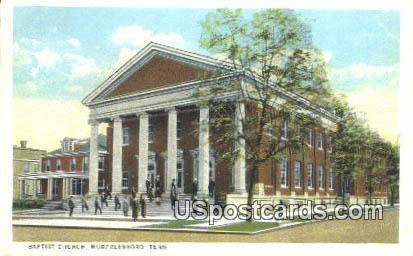 Baptist Church - Murfreesboro, Tennessee TN Postcard