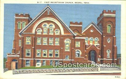 First Presbyterian Church - Bristol, Tennessee TN Postcard