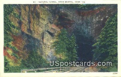 Natural Tunnel - Bristol, Tennessee TN Postcard