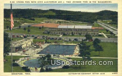 Legion Pool, Civic Auditorium - Kingsport, Tennessee TN Postcard
