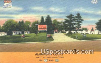 Alhambra Court - Knoxville, Tennessee TN Postcard