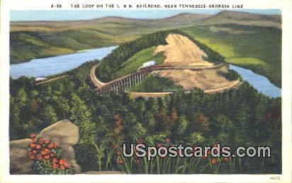 Loop on the L & N Railroad - Misc, Tennessee TN Postcard