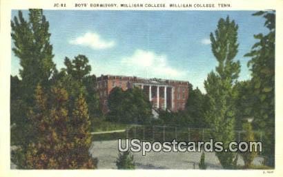 Boys' Dormitory, Milligan College - Tennessee TN Postcard