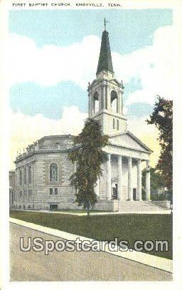 First Baptist Church - Knoxville, Tennessee TN Postcard