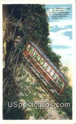 Incline Railway Car - Chattanooga, Tennessee TN Postcard
