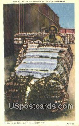 Bales of Cotton - Misc, Tennessee TN Postcard