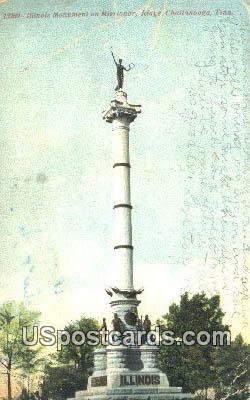 Illinois Monument & Missionary - Chattanooga, Tennessee TN Postcard