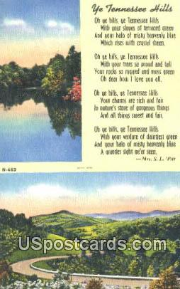 Misc, Tennessee Postcard      ;      Misc, TN